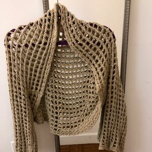 Free People Fishnet Sweater